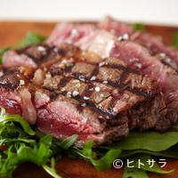 29 - 豪快に炭で焼く『熊本県産えこめ牛ロース』(300g、約2人前)