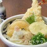 にし蔵 - アツアツの天ぷらと冷たく歯ごたえがいい『特上えび天ぶっかけ』