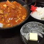 Arakiya - 味噌麻婆麺 麻婆大盛り バター 半ライス 1000円