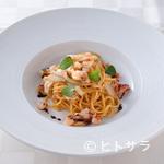 mondo - 濃厚な手打ち麺の『才巻き海老とアティチョークのタリオリーニ』