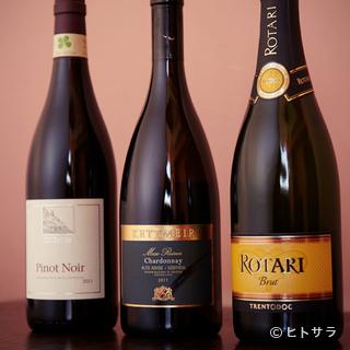 95%のイタリアワインと5%のブルゴーニュワイン