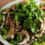 リベルタン - パクチーの爽やかな香りが活きた『豚肉とパクチーのサラダ』