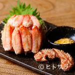 恵比寿魚金 - 売り切れ必須の『毛蟹の甲羅詰め』