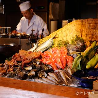 築地市場から毎日仕入れる鮮魚が最大の魅力です