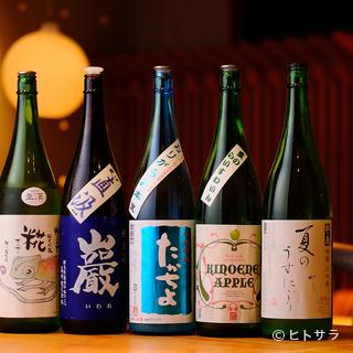 日本酒の品揃えには自信。新しい出会いを演出します