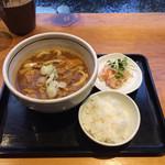Kareudonhikari - 大人のカレーうどんセット。 税込980円。 美味し。