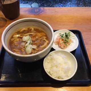 カレーうどん ひかり TOKYO - 大人のカレーうどんセット。 税込980円。 美味し。
