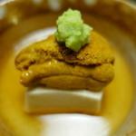 65417447 - 胡麻豆腐と雲丹