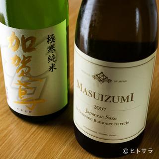 天ぷらの油をスッと洗い流す、銘酒をラインナップ