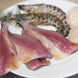 寿司屋にもひけをとらない魚介の質と鮮度