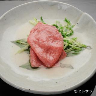 高品質な和牛を、趣向を凝らした懐石料理で