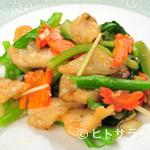 竹琳 - ミネラル豊富『本日の魚と中国野菜の備前塩炒め(清炒鮮魚)』
