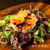 Amets - 濃厚な旨みのチーズを香ばしく焼いた『ヤギチーズのサラダ』