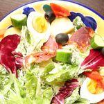 FLOW lounge - イベリコチョリソと季節野菜のアリオリサラダ