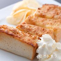 石釜 ベイクブレッド 茶房 タムタム - 香り豊かなアーモンドペーストの『石窯焼きアーモンドトースト』