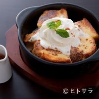 石釜 ベイクブレッド 茶房 タムタム - ふんわりとろっととろける食感の『石窯焼きフレンチトースト』