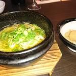 牛角 - 〆ものの石鍋ごまねぎラーメン
