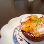 フランス焼菓子 シャンドゥリエ - オレンジのタルト 650円 ジューシーなオレンジがとっても美味しい!