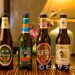 セラドン - シンハー、チャーンなど、4種のタイビールが楽しめます。