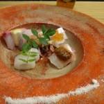 四季彩家 ろく - ◆私には鯖の代わりに「鯛・ゴマダレ掛け」、他は同じです。