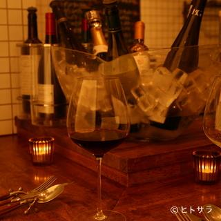 フレンチによく合うワインも充実のラインアップ