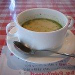 モルトボーノ - 日替わりセットのスープ