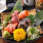 個室居酒屋 いし竹 - 築地鮮魚大漁3種盛り