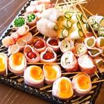 野菜串盛り合わせ 8種