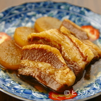 茶坊 玉蘭 - じっくりと沁み込ませた味! 柔らかく食べやすい『豚角煮』