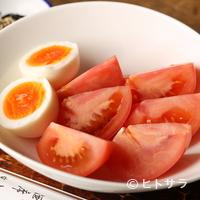 ふくべ - シンプルだけどこれが旨い『トマトサラダ(玉子付き)』