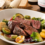 ビストロ ル セット - 付け合せに季節野菜たっぷりなのもうれしい『牛ハラミのグリエ』