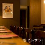 ビストロ ル セット - カウンターの特にすみっこ、そこはカップルの特等席