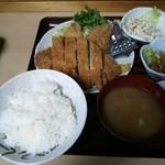 浅間 - 上ロースカツ定食(¥1330)+ハムカツ1枚(¥100)