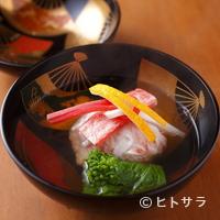 祇園 大渡 - 蟹本来の甘みと旨みを引き出した『蟹しんじょお椀』