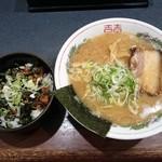 65438515 - チャーシュー丼セット +らーめん(並)