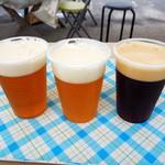 宮島パティオ - 宮島ビール三種。