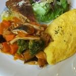 鴎堂 - 料理写真:チキンのビネガー煮、きのこのキッシュ、チーズオムレツ