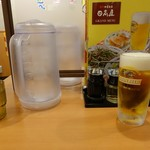 日高屋 - 生ビール(中ジョッキ)310円