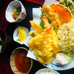 うおたけ鮮魚店やけんど 海鮮どんや - 天ぷら定食(平日限定)