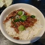 郷里 - 2017年3月 白とんミニ飯セット(ランチ限定)肉めし 870円
