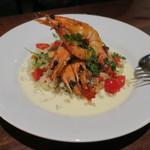 AURELIO - 天使の海老のソテー 大麦と香味野菜のサラダ1