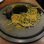 レインカラー - プレミアム・ジャンボ椎茸 アサリバターとカラスミのパスタ1
