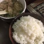 宮崎牛焼肉 炭の杜 祥 - ご飯、スープ