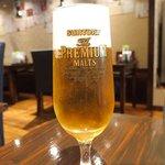 食べ門 - プルコギ定食&生ビール 1000円 の生ビール