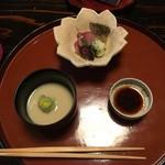 美山荘 - 鯉の刺身とお椀