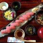 一入 - 料理写真:限定10食の鮪中トロ御膳 1580円