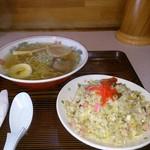 しんとみ - 料理写真:Aセット  半ラーメンと半チャーハン