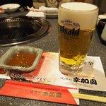 宮崎牛第一号指定店 焼肉の幸加園 - 生ビール