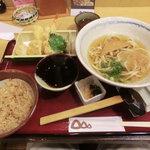 うどんのう - 天ぷら定食(きつねうどん)1,000円