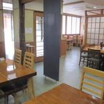 蕎楽 - オイラが確保したテーブル席の裏側は・・、